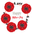 greeting card happy mother s day with wild flowers vector image vector image