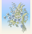 greeting card with spring delicate bouquet vector image vector image