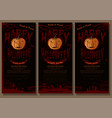 happy halloween black and red banner set vector image vector image