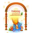 happy janmashtami festival background india vector image vector image