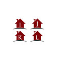 home real estate solutions set vector image vector image
