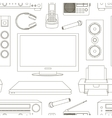 Home technics pattern vector image