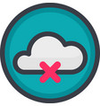 icon of a no connection in flat style with vector image