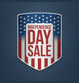 independence day sale usa realistic banner vector image vector image