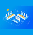 industry 40 internet of things vector image vector image