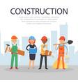 inscription construction referential information vector image vector image