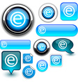 Internet blue signs vector image