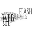 is flash appropriate in a business web site text vector image vector image