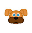 isolated cute dog avatar vector image vector image