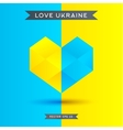 Love Ukraine symbol 3D heart icon vector image