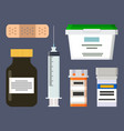 medicine production icons set vector image
