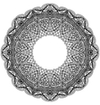 Monochrome frame mandala Design black element in vector image vector image