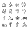 park icons set vector image vector image