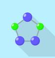 pentagon molecule icon flat style vector image