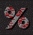 percent sign for autumn sale on black friday vector image vector image