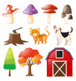 pets and farm elements vector image vector image