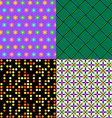 Seamless patterns Set 2 Abstract colorful vector image vector image
