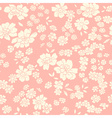 Seamless texture with different flowers vector image vector image
