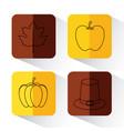 set of thanksgiving holiday season vector image vector image