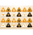 Set of warning signs vector image vector image