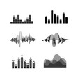 silhouette black equalizer icon set vector image vector image