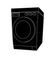silhouette cartoon washing machine design vector image vector image