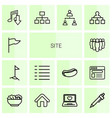 site icons vector image vector image