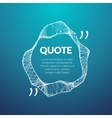 Technology quote poster Place for quote template vector image