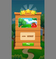 ui game user interface panel for mobile popup vector image vector image
