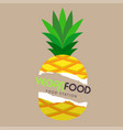 vegan food station pineapple background ima vector image
