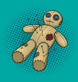 voodoo doll pop art vector image vector image