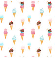 watercolor ice cream pattern vector image
