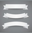 white paper wavy ribbons or flags vector image vector image