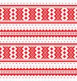 winter cross-stitch pattern sami art vector image vector image