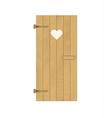Wooden door with heart vector image