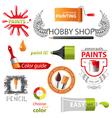 paint emblems vector image