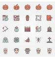 Colorful halloween icons set vector image