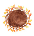 abstract autumn ivy round shape watercolor vector image