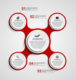 Abstract circle infographic in the form of vector image vector image