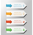 arrows for infographic vector image