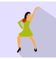 best dance flat sign vector image vector image