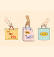big sale shopping discount in shops concept vector image vector image