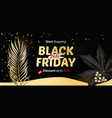 black friday sale banner poster logo christmas vector image