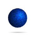 blue fur ball isolated on white vector image vector image