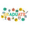 cartoon graduated concept card poster vector image vector image