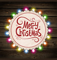 Christmas garland of light vector image vector image