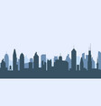 cityscape silhouette urban city vector image vector image