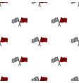 crossed checkered and equestrian flags icon in vector image vector image