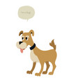 cute dog and speech balloon isolated on white vector image