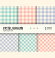 digital paper pack 6 abstract patterns gingham vector image vector image